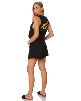 BLACK WOMENS CLOTHING SANTA CRUZ SINGLETS - SC-WTA0053BLK