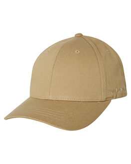 KHAKI MENS ACCESSORIES FLEX FIT HEADWEAR - 172152-KHA