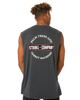 MERCH BLACK MENS CLOTHING THRILLS SINGLETS - TH9-116MBMCBLK