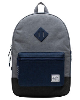 MID GREY BLUE BLACK KIDS BOYS HERSCHEL SUPPLY CO BAGS + BACKPACKS - 10312-02515-OSMGBB