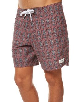 DUSTED RED MENS CLOTHING RHYTHM BOARDSHORTS - JUL17-TR02-RED