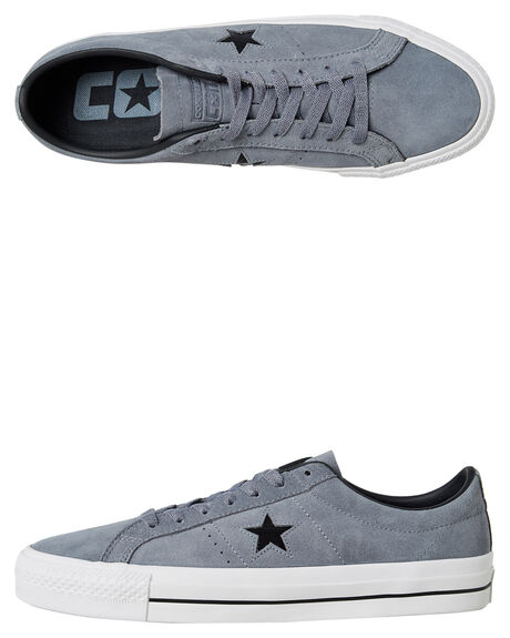 GREY BLACK WOMENS FOOTWEAR CONVERSE SNEAKERS - SS162514GRYW