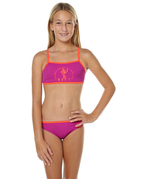 Roxy Kids Girls Mermaid Crop Bikini Clover Surfstitch