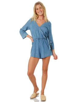 BRIGHT BLUE WOMENS CLOTHING BILLABONG PLAYSUITS + OVERALLS - 6581503BLU