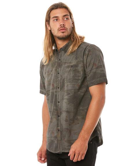 BLACK MENS CLOTHING EZEKIEL SHIRTS - ES173053BLK