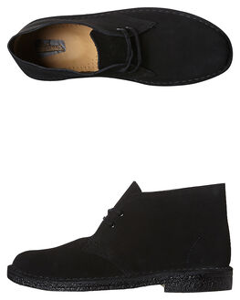 BLACK MENS FOOTWEAR CLARKS ORIGINALS BOOTS - SS146289BLKM