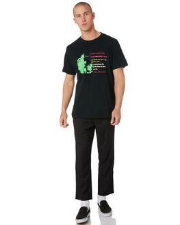 WASHED BLACK MENS CLOTHING MISFIT TEES - MT096003WSBLK