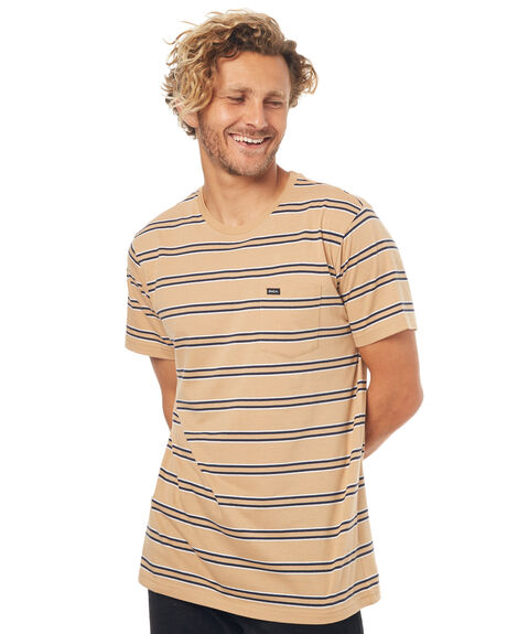 DUST YELLOW MENS CLOTHING RVCA TEES - R373045DYLW