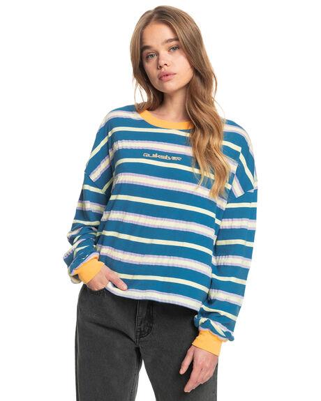 DARK BLUE EXTRA STRI WOMENS CLOTHING QUIKSILVER TEES - EQWKT03084-BQP3