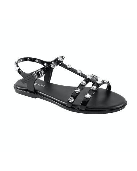 BLACK WOMENS FOOTWEAR HOLSTER FASHION SANDALS - HST350BL