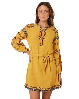 MUSTARD WOMENS CLOTHING TIGERLILY DRESSES - T381410MUS