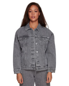 GREY STRIPE WOMENS CLOTHING RVCA JACKETS - RV-R207440-GST