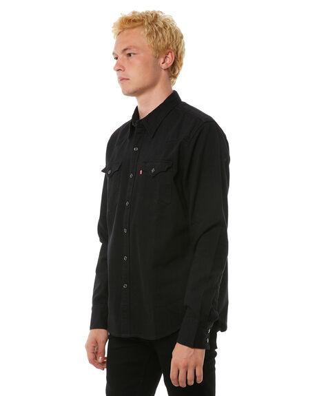 Levi s barstow western mens ls shirt black surfstitch for Mens black levi shirt