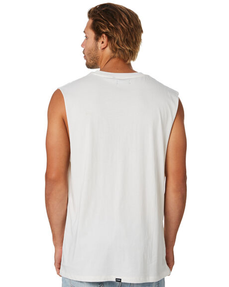 DIRTY WHITE MENS CLOTHING THRILLS SINGLETS - TS9-120ADTWHT