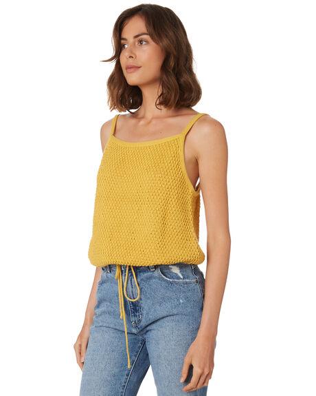 YELLOW SOLID WOMENS CLOTHING RUE STIIC FASHION TOPS - WS18-44-Y-CYEL