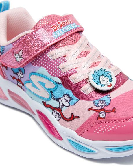 PINK/MULTI KIDS GIRLS SKECHERS SNEAKERS - 314988LPKMT