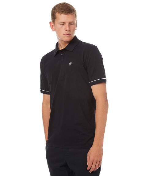 BLACK MENS CLOTHING BRIXTON SHIRTS - 02282BLK