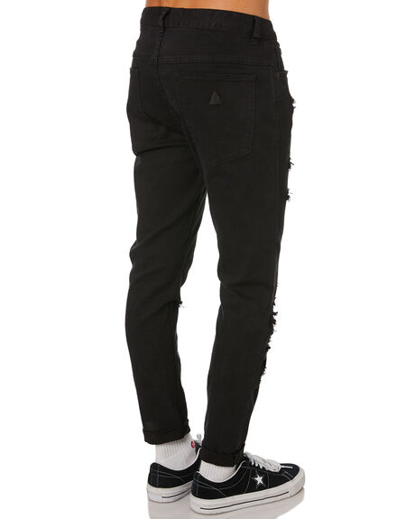 ROGUE BLACK MENS CLOTHING ABRAND JEANS - 809823118