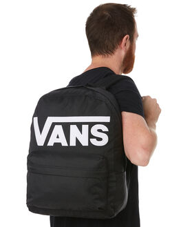 BLACK WHITE MENS ACCESSORIES VANS BAGS + BACKPACKS - VNA3I6RY28BLK