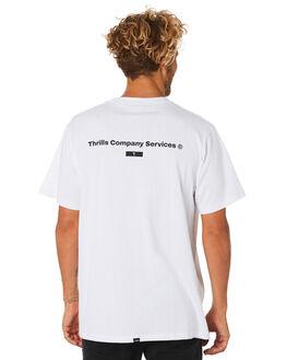 WHITE MENS CLOTHING THRILLS TEES - TA9-105AWHT