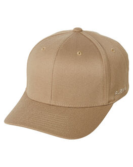 KHAKI MENS ACCESSORIES FLEX FIT HEADWEAR - 172601KHA
