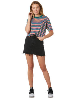LEVEE BLACK WOMENS CLOTHING WRANGLER SKIRTS - W-951468-LQ6