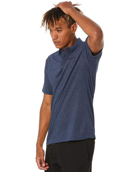 OBSIDIAN HEATHER MENS CLOTHING HURLEY SHIRTS - CZ6017H451