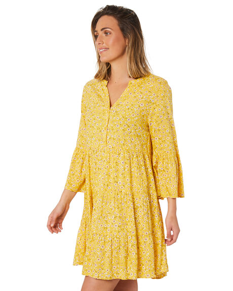 HONEY FLORAL PRINT WOMENS CLOTHING SWELL DRESSES - S8211453HYFPT