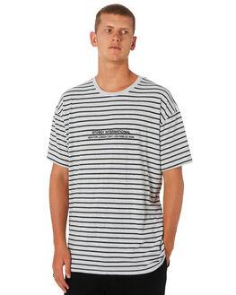 DARKEST TEAL STRIPE MENS CLOTHING STUSSY TEES - ST091104DKSTR