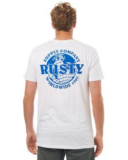 WHITE MENS CLOTHING RUSTY TEES - TTM1910WHT