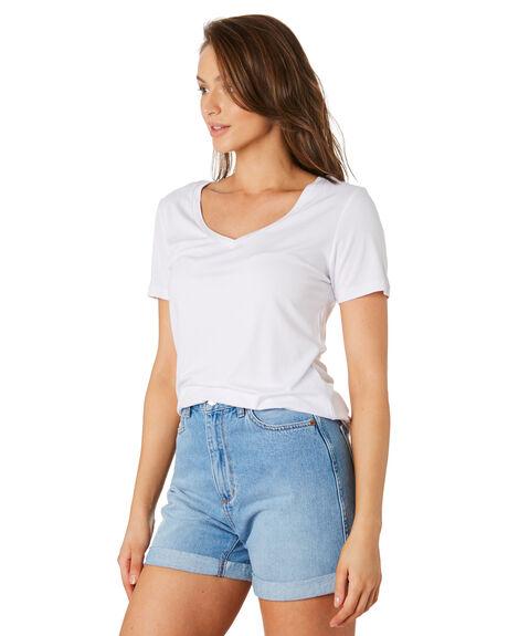 WHITE WOMENS CLOTHING BETTY BASICS TEES - BB515WHI