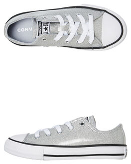 WOLF GREY KIDS GIRLS CONVERSE SNEAKERS - 666896CWGRY