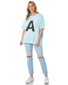 BORA BORA TIE DYE WOMENS CLOTHING ABRAND TEES - 71879-5164