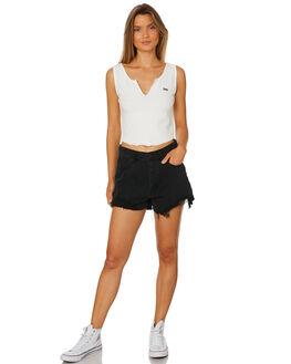 VINTAGE WHITE WOMENS CLOTHING LEE SINGLETS - L-651705-922