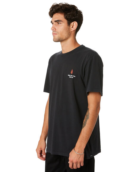 BLACK MENS CLOTHING VOLCOM TEES - A4331972BLK
