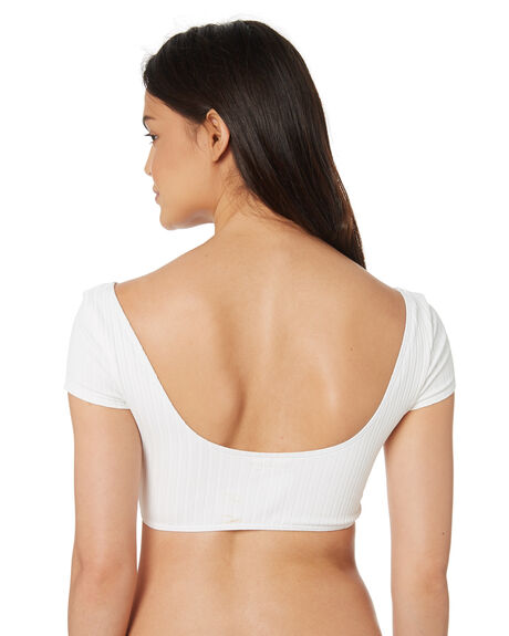 WHITE OUTLET WOMENS BILLABONG BIKINI TOPS - 6582766WHT