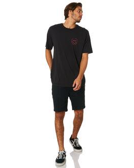 BLACK MENS CLOTHING HURLEY TEES - AT8387010