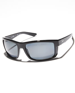 GLOSS BLACK GREY MENS ACCESSORIES ARNETTE SUNGLASSES - AN421602