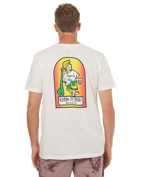WHITE MENS CLOTHING KATIN TEES - TSSSKBL17WHT