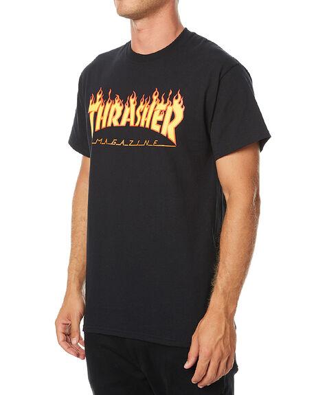 BLACK MENS CLOTHING THRASHER TEES - 20065193BLK