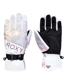 MICRO CHIP EDELWEISS BOARDSPORTS SNOW ROXY GLOVES - ERJHN03129-SZH1