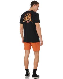 BLACK MENS CLOTHING SANTA CRUZ TEES - SC-MTD9369BLK