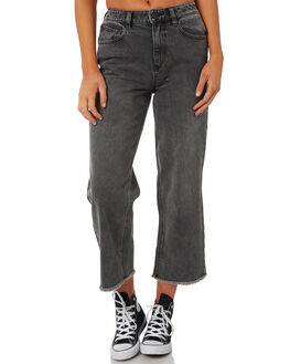 SMOKE WOMENS CLOTHING VOLCOM JEANS - B1911807SMK