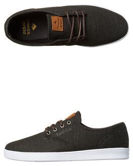 BLACK GUM WHITE MENS FOOTWEAR EMERICA SKATE SHOES - 6102000089-968