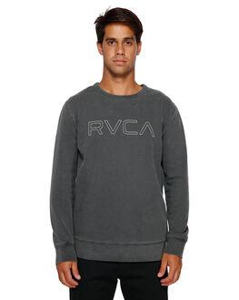 BLACK MENS CLOTHING RVCA JUMPERS - RV-R191151-BLK