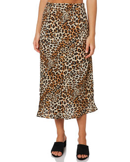 LEOPARD WOMENS CLOTHING LULU AND ROSE SKIRTS - LU23879LEO