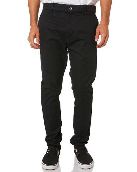 BLACK MENS CLOTHING ZANEROBE PANTS - 701-LYKMIBLK