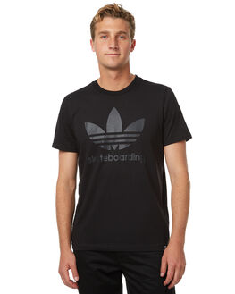 BLACK MENS CLOTHING ADIDAS ORIGINALS TEES - BR5009BLK
