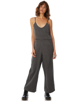 BLACK WOMENS CLOTHING AFENDS PLAYSUITS + OVERALLS - W183880-BLK
