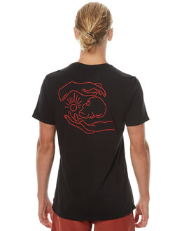 BLACK RED MENS CLOTHING SWELL TEES - S5164015BKRED
